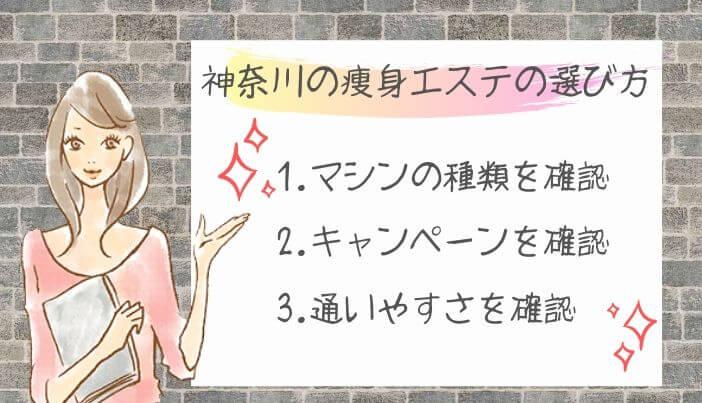 神奈川の痩身エステの選び方