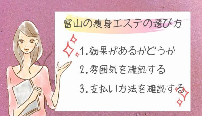 富山の痩身エステの選び方