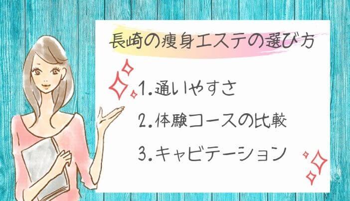 長崎の痩身エステの選び方