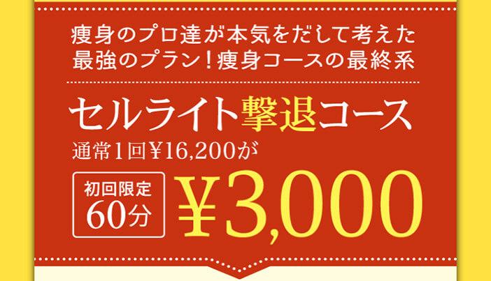 フェイバリックスグループの料金|おすすめコースは初回60分で3000円